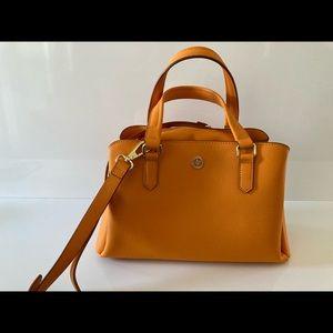 Ora Delphine orange leather handbag